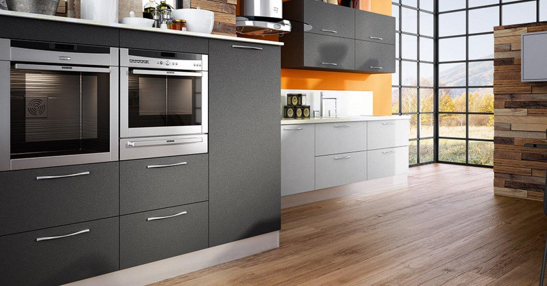 Matte Gray Kitchen Cabinets