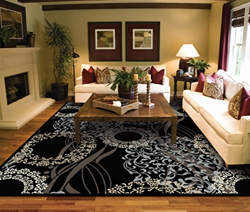 Large Rugs for Living Room 8x10 Black Clearance Area Rugs 8x10 Under 100