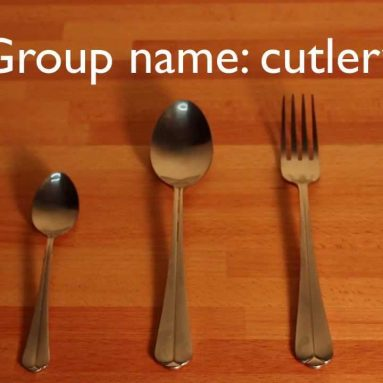 Basic English vocabulary – Knife, fork, spoon, cutlery