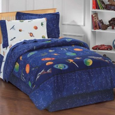 Dream Factory Outer Space Satellites Boys Comforter Set, Blue, Twin sale