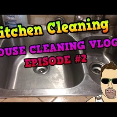 Kitchen Cleaning House Cleaning VLOG Episode #2