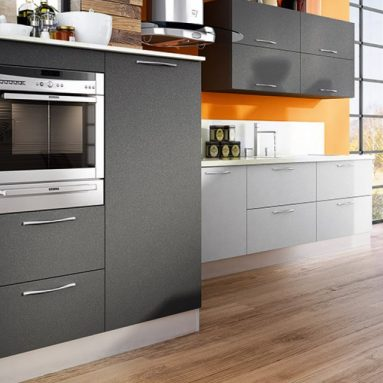 Matte Gray Kitchen Cabinets