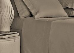 Mayfair Linen Bedding Collection 600 Thread Count Bedspread 100% Egyptian Cotton Sheet Set Sateen Weave Deep Pocket Premium Quality Bedding Set Taupe Full sale