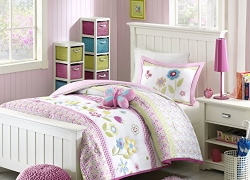 Mizone Kids Spring Bloom 3 Piece Comforter Set, Multicolor, Twin sale