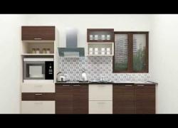 Small Straight Line Modular Kitchen Designs