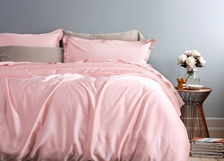 Solid Color Egyptian Cotton Duvet Cover Luxury Bedding Set High Thread Count Long Staple Sateen Weave Silky Soft Breathable Pima Quality Bed Linen (Queen, Cotton Candy) sale