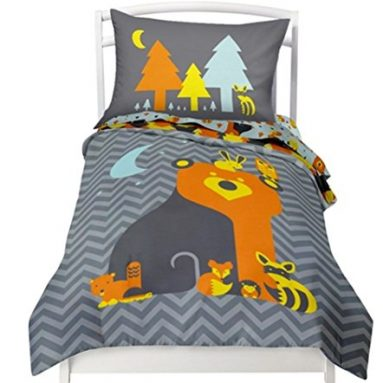 Twin Reversible Woodland Creatures Duvet Cover Set with 1 Reversible Pillowcase for Kids Bedding -Double Brushed Ultra Microfiber Luxury Bed Sheet Set By Where The Polka Dots Roam (66″ L X 86″ W) sale
