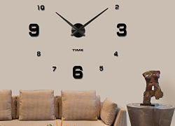 Vangold Modern Mute DIY Frameless Large Wall Clock 3d Mirror Sticker Big Watches Home Office Decorations (2-Year Warranty) sale