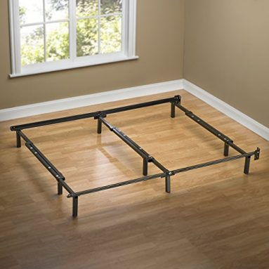 Zinus Compack Adjustable Steel Bed Frame, for Box Spring & Mattress Set, Fits Full to King sale