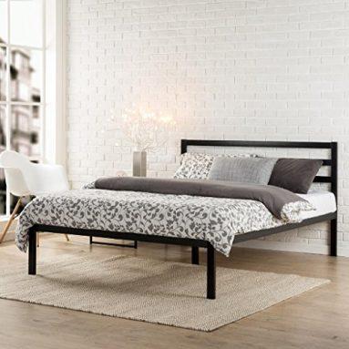 Zinus Modern Studio 14 Inch Platform 1500H Metal Bed Frame / Mattress Foundation / Wooden Slat Support / with Headboard, Full sale
