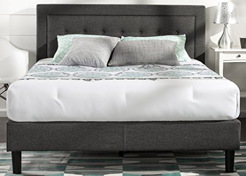 Zinus Upholstered Button Tufted Premium Platform Bed With