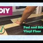 Peel and Stick Vinyl Floor Install- Araceli Chan Home Family DIY