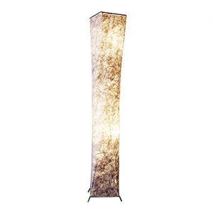 TRUMVEE 52 Inch Fabric Shade LED Floor Lamp - Warm White Light for Living Room, Bedroom, Office