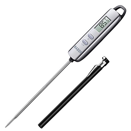 Meat Thermometer, Habor Instant Read Thermometer Cooking Thermometer Candy Thermometer with Super Long Probe for Kitchen Cooking BBQ Grill Smoker Meat Fry Food Milk Yogurt