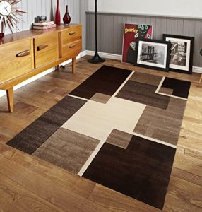 Easy Clean Stain Fade Resistant for Living Room Bedroom Kitchen Area Rug Renzo Collection, Modern Geometric Space area rug - Artistic Mediterranean Area Rug (Size 5 x 8 Feet)