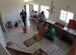 Kitchen Remodeling – Day 2 of 17 – Demolition of Cabinets and Floor