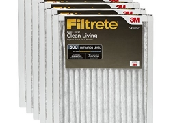 Filtrete Clean Living Basic Dust AC Furnace Air Filter, MPR 300, 16 x 25 x 1-Inches, 6-Pack sale