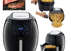 GoWISE USA 5.8-QT Programmable 8-in-1 Air Fryer XL + 50 Recipes for your Air Fryer Book, Black sale