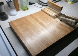 I had an idea. Magnetic knife storage cutting board.