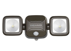 Mr. Beams MB3000-Brn-01-00 MB3000 High Performance Wireless Battery Powered Motion Sensing LED Dual Head Security Spotlight, 500 Lumens, Brown sale