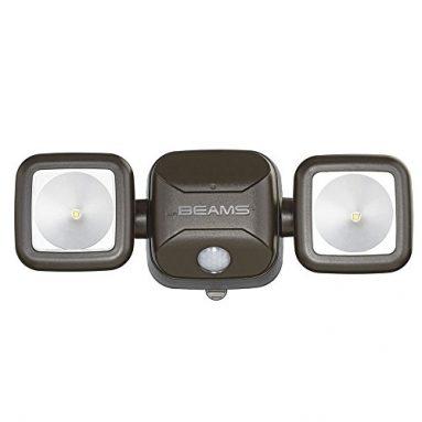 Mr. Beams MB3000-Brn-01-00 MB3000 High Performance Wireless Battery Powered Motion Sensing LED Dual Head Security Spotlight, 500 Lumens, Brown sale