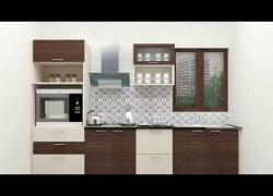 Small Straight Line Modular Kitchen Designs