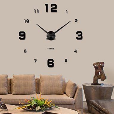 Vangold Modern Mute DIY Frameless Large Wall Clock 3d Mirror Sticker Big Watches Home Office Decorations (2-Year Warranty) sale