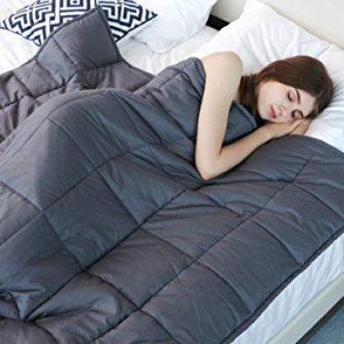 """Weighted Blanket by YnM for Adults, Fall Asleep Faster and Sleep Better, Great for Anxiety, ADHD, Autism, OCD, and Sensory Processing Disorder(48""""x72"""")(15 lbs for 140 lbs individual) sale"""